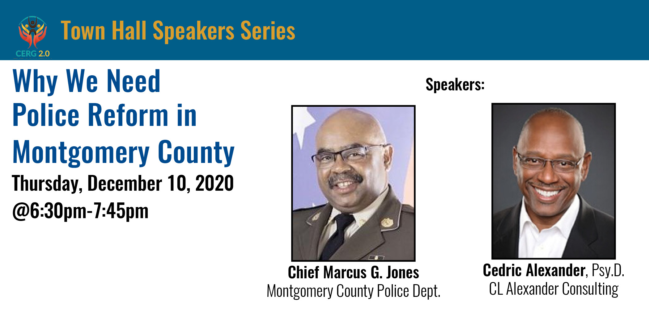 Why We Need Police Reform - Thursday, December 10, 2020 @6:30pm